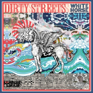 white horse dirty streets