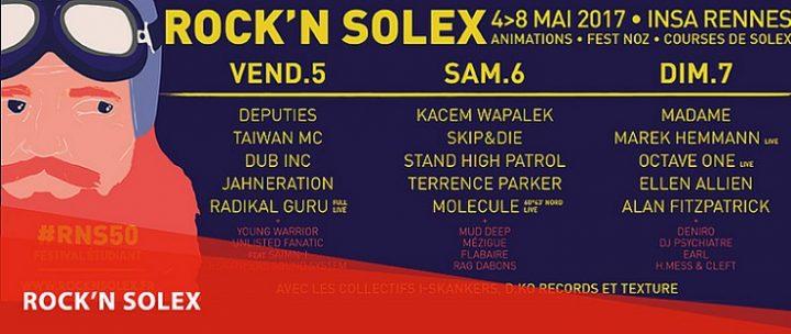 Affiche ROCK_N SOLEX 2017 du 4 au 8 mai 2017
