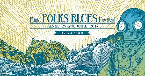 AFFICHE BINIC FESTIVAL FOLK BLUES FESTIVAL 2017