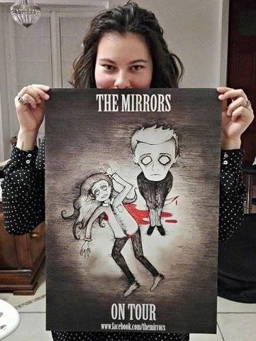 THE MIRRORS - Affiche de la tournée 2017