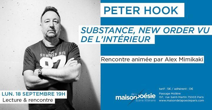 Affiche Peter Hook @Maison de la Poésie - 18.09.2017
