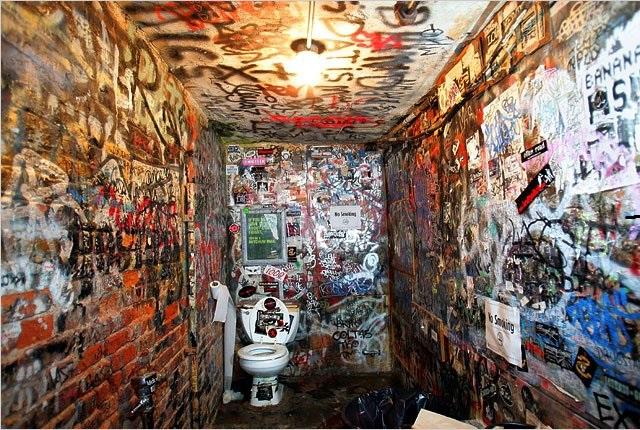 Graffitis muraux @CBGB