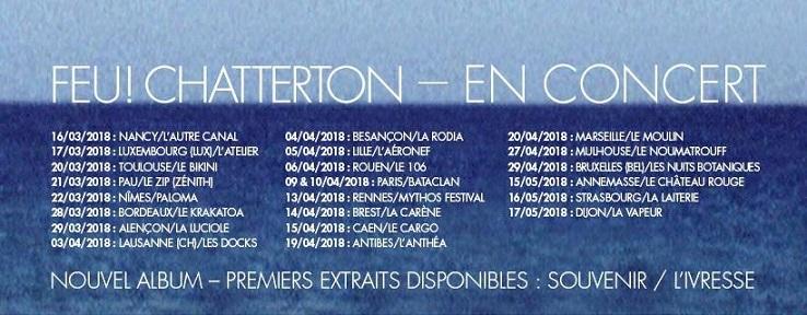 Tournée Feu Chatterton 2018