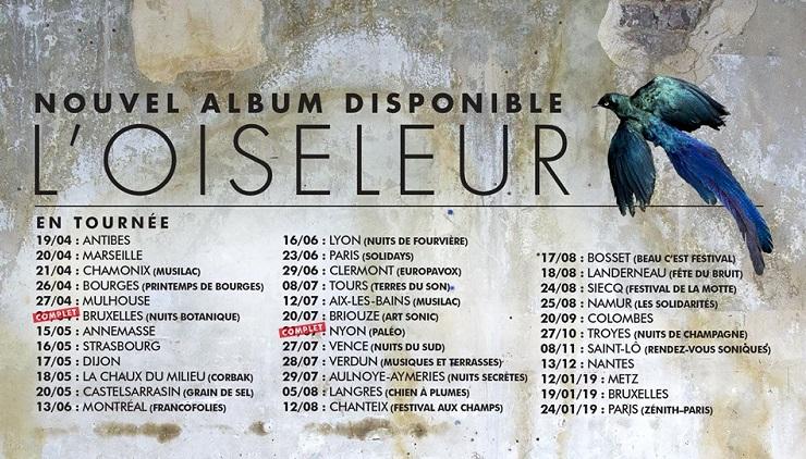 Dates tournée