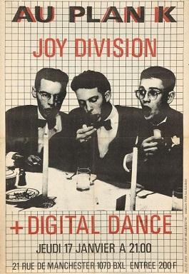 Affiche concert Joy Division + Digital Dance @Plan K le 17.01.1980
