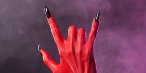 Devil punk rock fingers