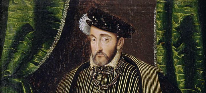 Portrait of Henri II (1519-59) (oil on panel) - Clouet, Francois (c.1510-72) (workshop of) - Louvre, Paris, France