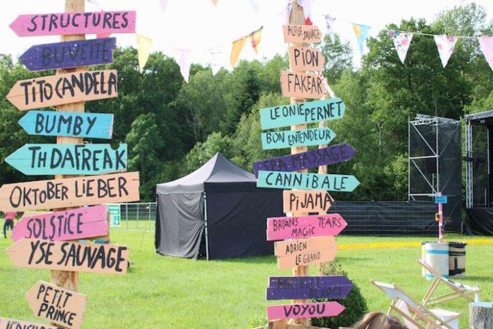 panneau d'affichage Biches Festival_resultat