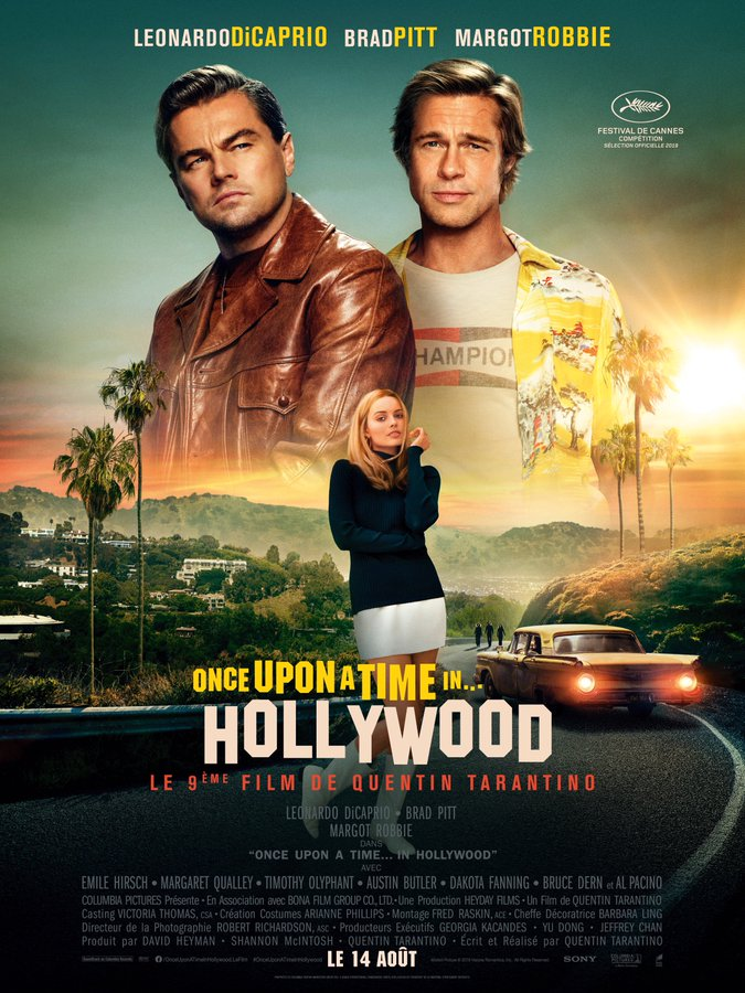 Once upon a time in Hollywood affiche