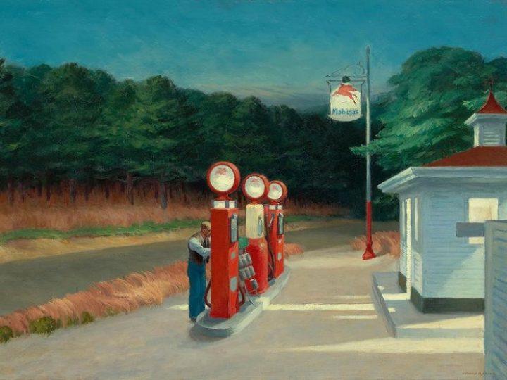 Hopper gas station