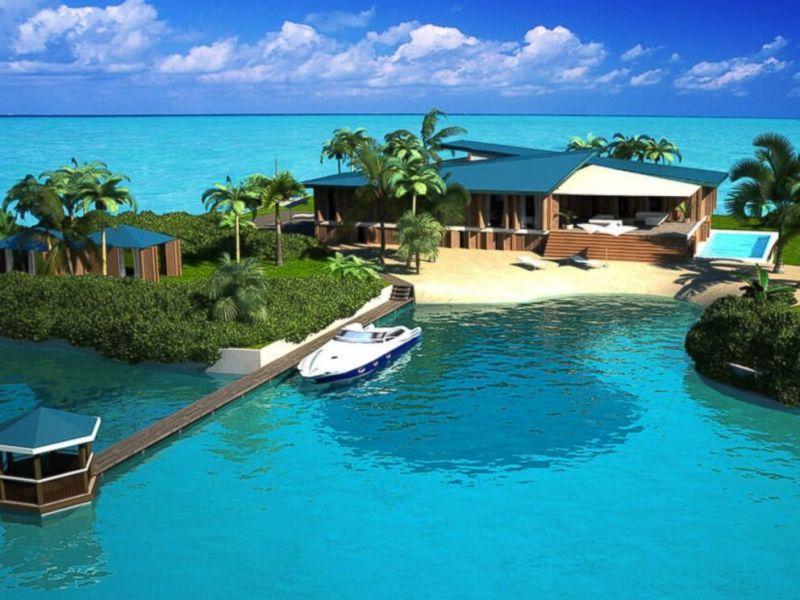 une petite île paradisiaque pour maison ?!