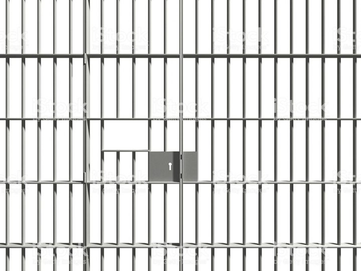prison bars on a white background